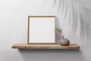 Photo frames mockup with shadow