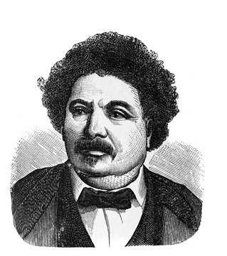 Alexandre Dumas (father), was a French writer in the old book Encyclopedic dictionary by A. Granat, vol. 3, S. Petersburg, 1896