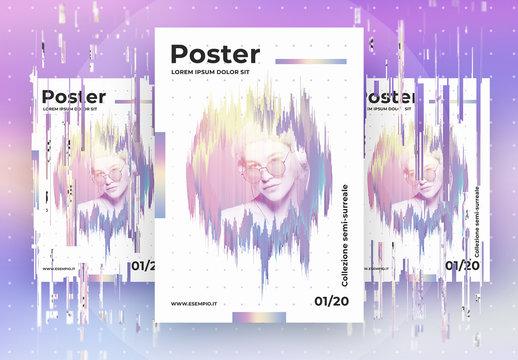 Modello di poster futuristico