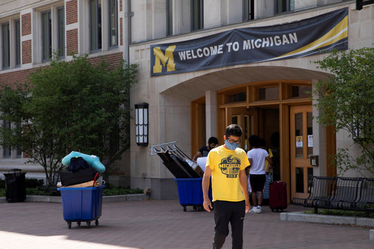 Michigan campus amid students returning for in-person classes