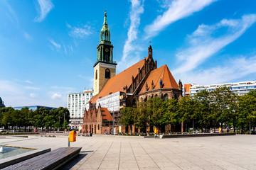 Germany, Berlin, Alexanderplatz andSaint Marys Church