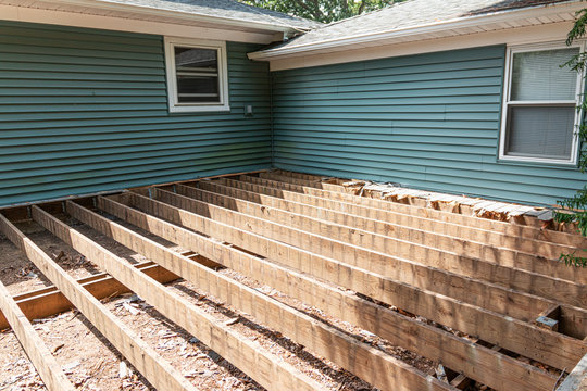 Construction of a new deck on back of house