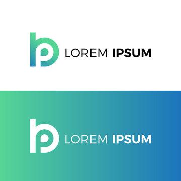 Letter bp logo. Letter pb logo. Icon vector.