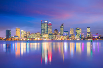 Fotomurales - Downtown Perth skyline in Australia