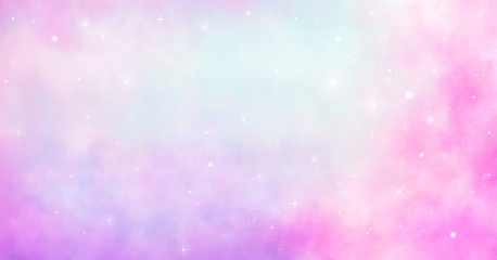 Dream Space galaxy background with shining stars and nebula, cosmos with colorful milky way and...