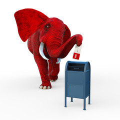 Mail-In-Voting - Red Elephant