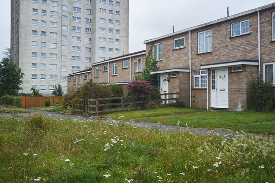 Low income housing estate in England