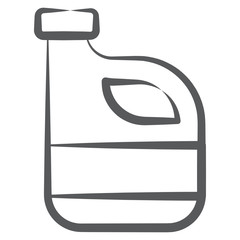 A container filled with petrol, petrol can vector style