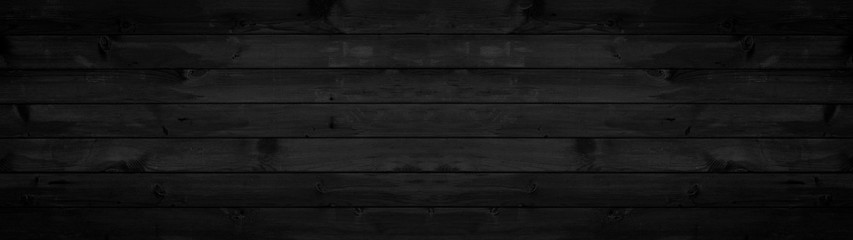 old black grey rustic dark wooden texture - wood background panorama long banner