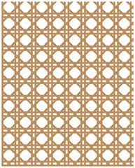 Obraz Natural cane webbing effect seamless pattern - fototapety do salonu