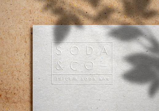 Embossed Logo Mockup on Kraft Paper