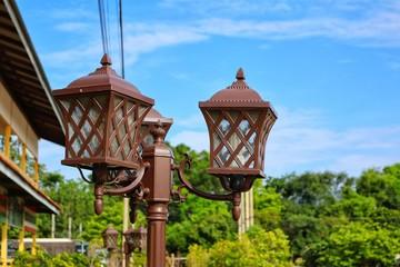 old street lamp Fotomurales