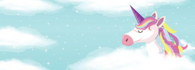 Custom vertical slats with your photo Cute unicorn on sky