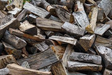 Pile of chopped firewood fullscreen