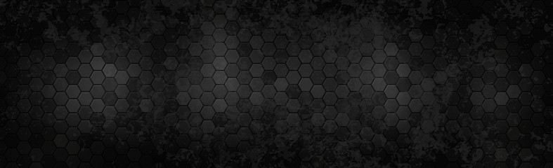 Panoramic texture of black and gray carbon fiber - Vector