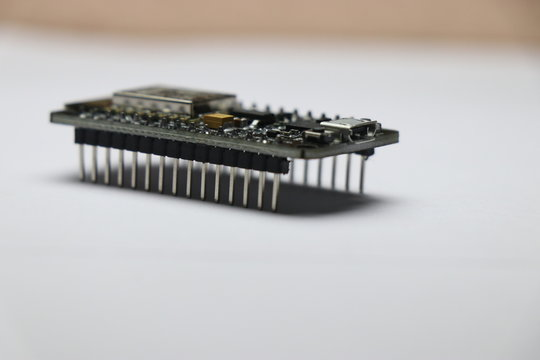 Open source firmware used in making iot projects prototype on white background