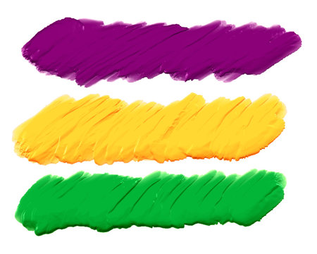 acrylic paint strokes banners set of three