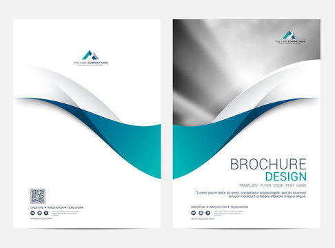 Brochure or flyer layout template, annual report cover design background