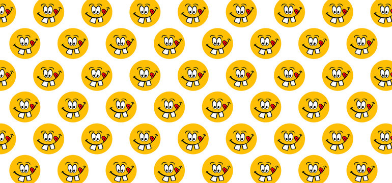 Titel Happy world smile day, smiling is loading Big happiness Fun thoughts emoji face emotion smiley Laughter lip symbol Smiling lips, mouth, tongue Funny teeth Vector laugh cartoon pattern Lol laugh