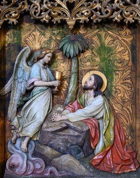 Jesus on the Mount of Olives. St Martin's Cathedral in Bratislava. Bratislava, Slovakia. 2020/05/20.