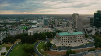 Fotomurales - Nashville Tennessee Downtown City Skyline Main Street Architecture State Capital