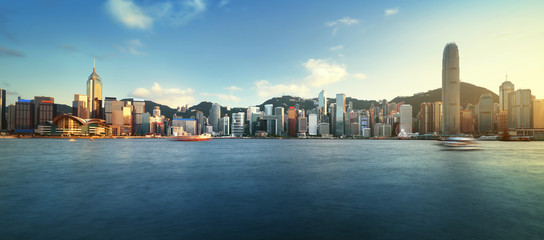 Fotomurales - Hong Kong harbour, long exposition