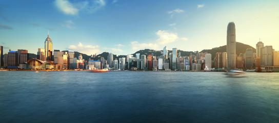 Fotomurales - Hong Kong harbour, long exposition