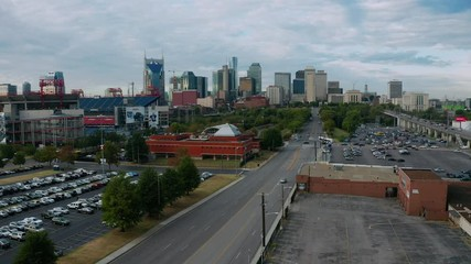 Fotomurales - Nashville Tennessee Downtown City Skyline Main Street Architecture