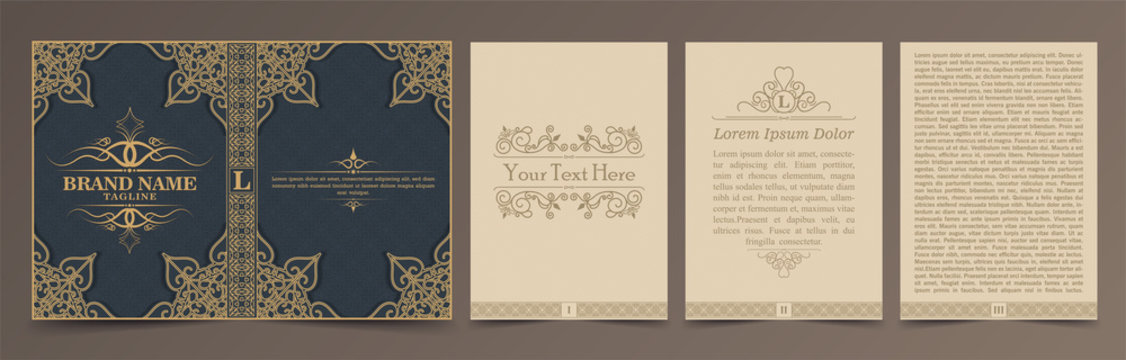 Vintage book layouts and design - covers and pages.