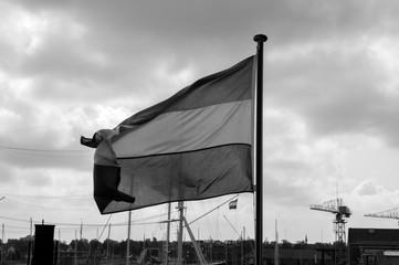Printed kitchen splashbacks Dolphin Flag On The Submarine The HNLS Tonijn At The Willemsoord Complex Den Helder The Netherlands 23 September 2019