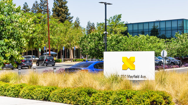 August 3, 2020 Mountain View / CA / USA - X Development LLC (formerly Google X) headquarters in Silicon Valley; X Development develops various projects, such as Waymo and Loon