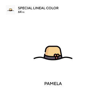 Pamela Special lineal color icon. Illustration symbol design template for web mobile UI element.