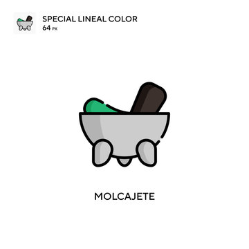 Molcajete Special lineal color icon. Illustration symbol design template for web mobile UI element.