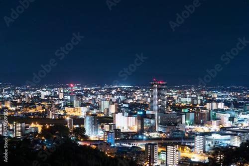 Wall mural 都市風景 熊本市 夜景