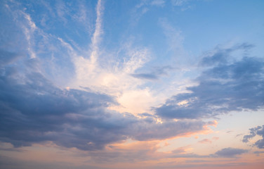 Sky with clouds at sunset in Rome, Italy Fotomurales