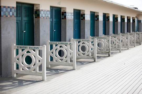 Celebrity Changing Rooms at Deauville Beach