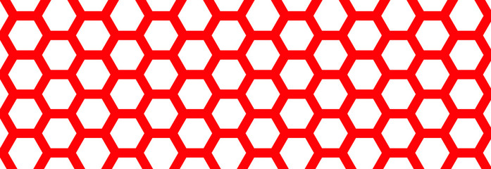 Red Honeycomb pattern. Seamless geometric hive background. Abstract yellow, orange beehive raster background. Funny vector bee honey shapes sign. Amber color