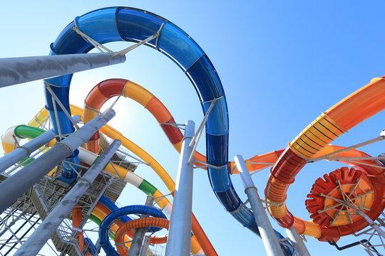 summer resort water slides attractions
