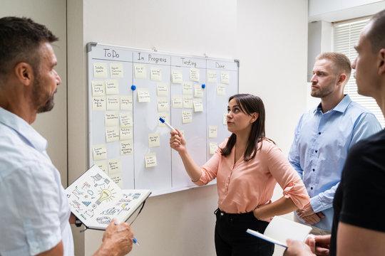Kanban White Board Task Plan
