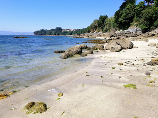 Mesmerizing shot of beautiful seascape in Galicia, Spain