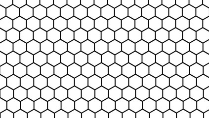 Honeycomb white background, Hexagon texture, 3d white paper background, abstract shape,space for text, objects, vector illustration Fotobehang