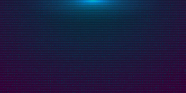 Futuristic blue purple gradient digital background. Backdrop in a cyberpunk style with Glow from above. Design for banner, web, poster, brochure, flyer and card. Vector