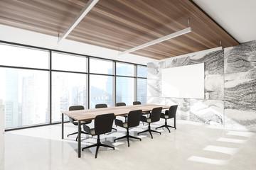 Photo sur Plexiglas Fleur Marble meeting room corner with poster