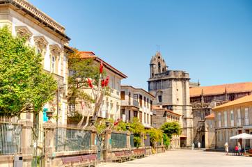 Wall Mural - Pontevedra landmarks, Galicia, Spain