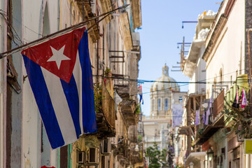 Cuban Flag on Havana Street