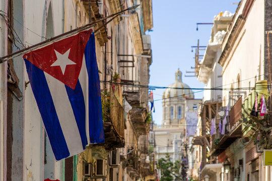 Cuban Flag on Havana Street