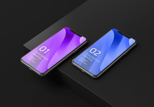 Smartphone Mockup for App and Mobile Web Design