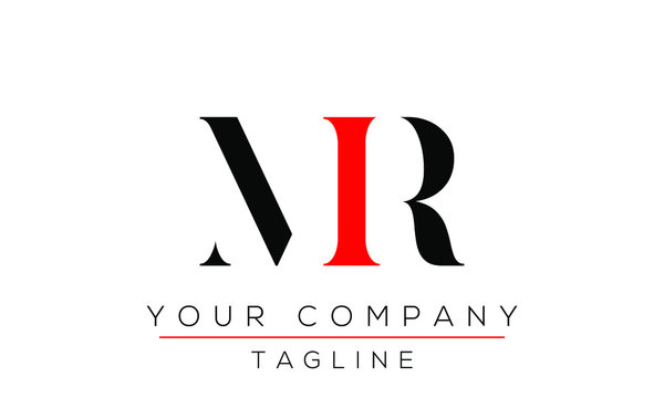Letter MR Logo Design, Creative Modern Icon RM M R