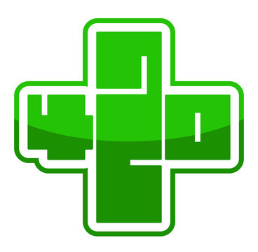 420 medical marijuana symbol cross