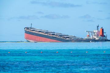Japanese ship Wakashio wrecked off the coast of Mauritius